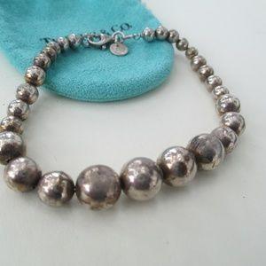 "Tiffany & Co. Jewelry - Tiffany & Co  Ball beaded sterling   bracelet 8"""